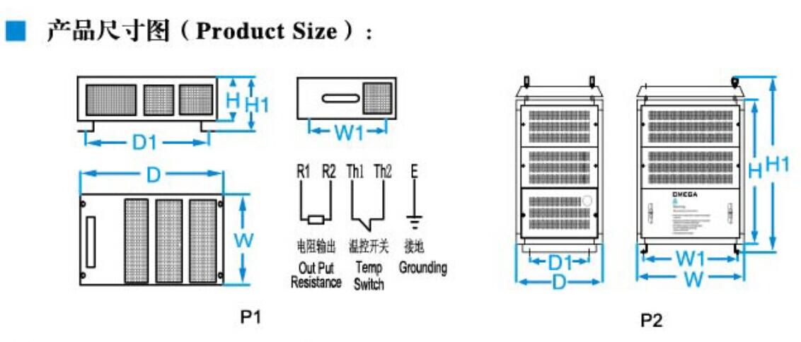 CMRG系列功率电阻柜 产品特点: CMRG系列产品是由波纹电阻器组合而成的电阻箱,适合于大功率,大电流的制动设备,实验测试设备电梯,起重等变频器的能耗制动回路中。 功率范围:11~200KW 电压范围:0.5KV-10KV 阻值范围:0.5R-100R 耐压:2.5KV-3KV/1min 50Hz IP等级:IP20~IP23 振动:0.